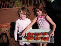 Girls-and-homemade-bruschetta