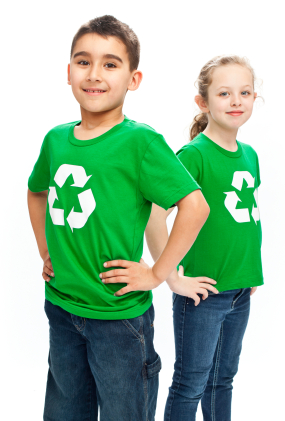 recycling green kids Set a Good Green Example for Your Kids